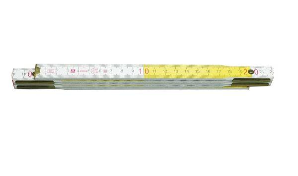 Mérővessző 1m fa fehér/sárga VOREL Kód:215004