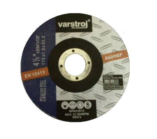 Vágókorong INOX 115×1,0mm 25db/csomag VARSTROJ Kód:256595