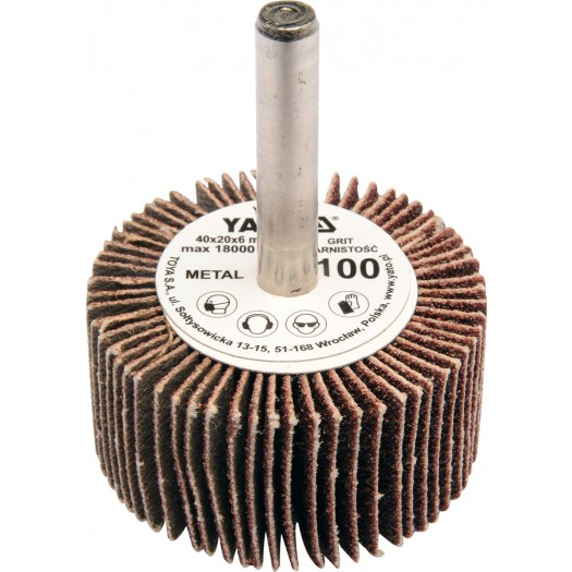 Csiszoló legyező fúrógépre P40 YATO 40×20×6mm Kód:YT-83351