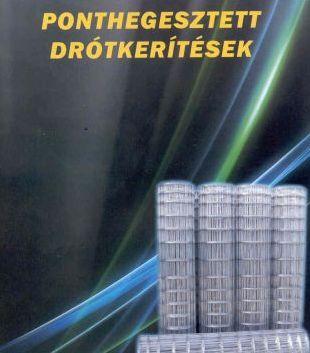 Drótkerítés 25fm 180cm magas fix, horganyzott  Kód:98180